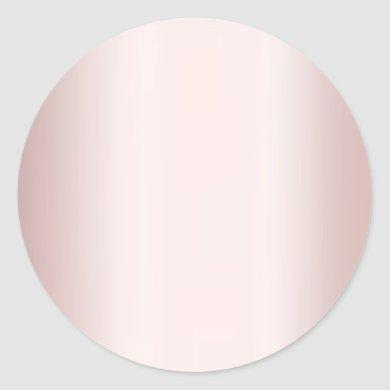 Elegant Rose Gold Blank Template Add Your Text Classic Round Sticker