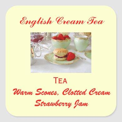 English Cream Tea Baking Sticker