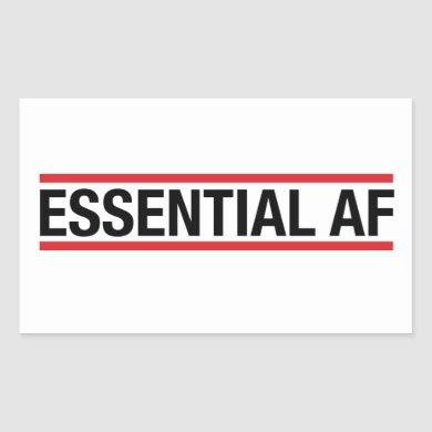 Essential AF Rectangular Sticker