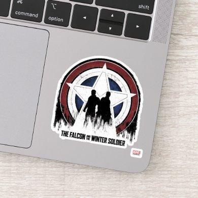 Falcon & Winter Soldier Shield Silhouettes Sticker
