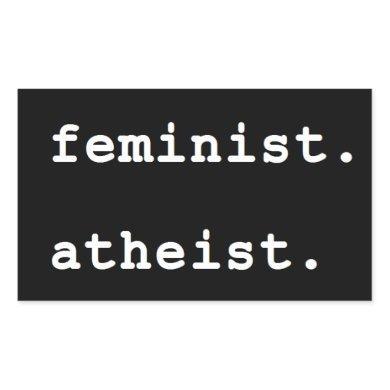 Feminist Atheist bumper sticker