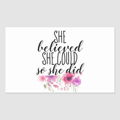 Feminist Floral Inspirational Quote Bumper Sticker