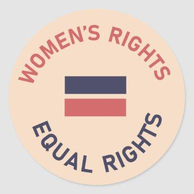 Feminist Women's Rights Equal Rights Sticker