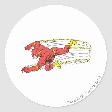 Flash Lunges Left Classic Round Sticker