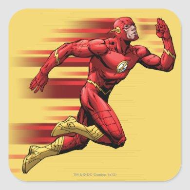 Flash Running Square Sticker