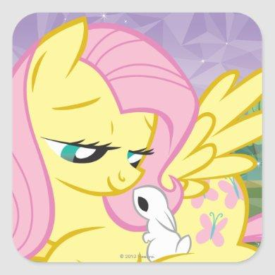 Fluttershy and Angel Square Sticker