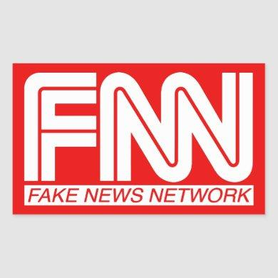 FNN Fake News Network #FakeNews MAGA Rectangular Sticker