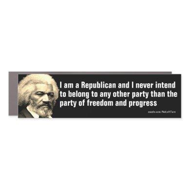 Frederick Douglass Republican Quote Car Magnet