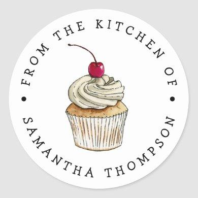 From the Kitchen Of | Cupcake Custom Classic Round Sticker