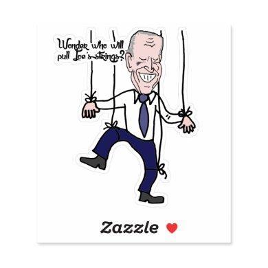 Funny Anti Joe Biden Puppet Political Cartoon Sticker