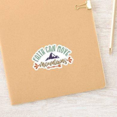 Funny Faith Can Move Mountains Simply Faithful Sticker