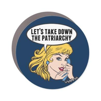 Funny Retro Feminist Pop Art Anti Patriarchy Car Magnet