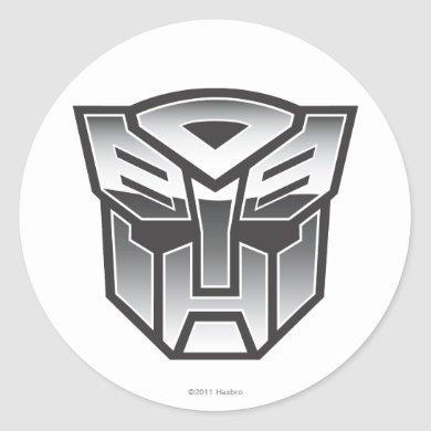 G1 Autobot Shield BW Classic Round Sticker