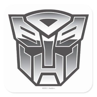 G1 Autobot Shield BW Square Sticker