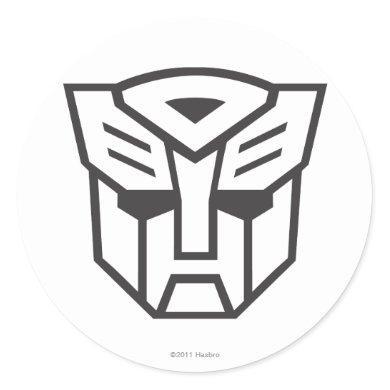 G1 Autobot Shield Line Classic Round Sticker