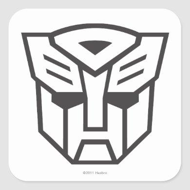 G1 Autobot Shield Line Square Sticker