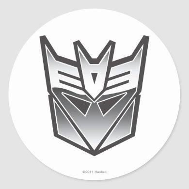 G1 Decepticon Shield BW Classic Round Sticker