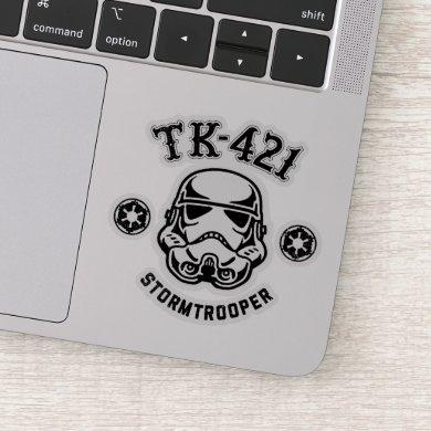 Galactic Empire Stormtrooper TK-421 Retro Graphic Sticker