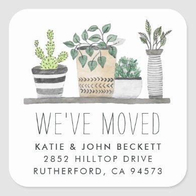 Garden Grown | Moving Announcement Stickers