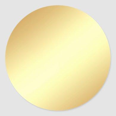 Glamour Faux Gold Blank Template Elegant Chic Classic Round Sticker