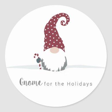 Gnome for the Holidays Classic Round Sticker