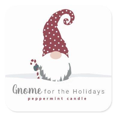 Gnome for the Holidays Scandinavian design Square Sticker