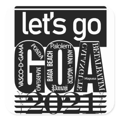 GOA Tour 2021 Square Sticker