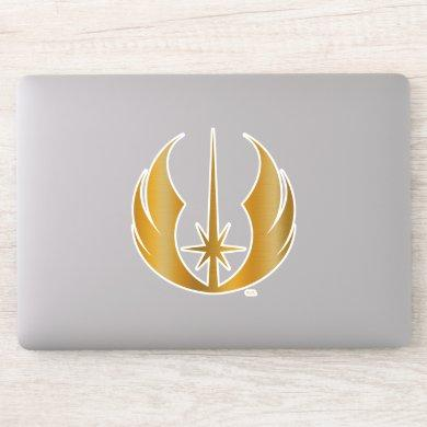 Gold Jedi Symbol Sticker