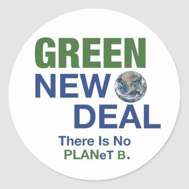 Green New Deal Classic Round Sticker