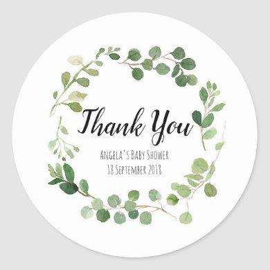 Greenery Botanical Thank You Sticker