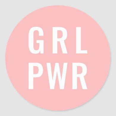 GRL PWR Rose Classic Round Sticker