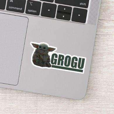Grogu Name Graphic Sticker