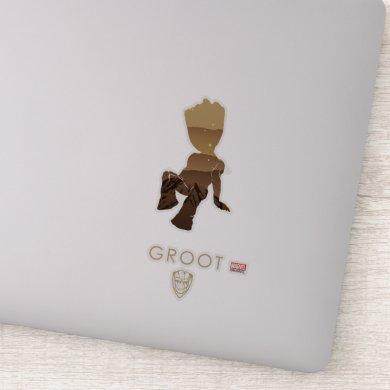 Groot Heroic Silhouette Sticker