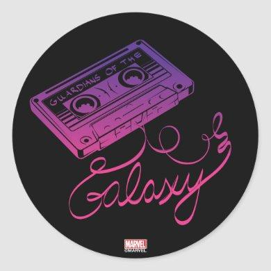 Guardians of the Galaxy   Cassette Tape Unraveled Classic Round Sticker