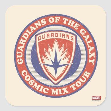 Guardians of the Galaxy | Cosmic Mix Tour Badge Square Sticker