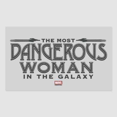 Guardians of the Galaxy | Dangerous Woman Rectangular Sticker