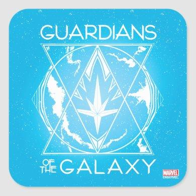 Guardians of the Galaxy | Galactic Logo Badge Square Sticker