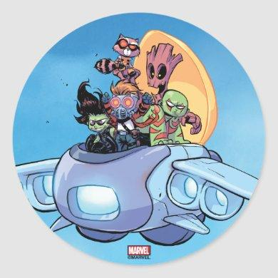 Guardians of the Galaxy | Gamora Pilots Ship Classic Round Sticker