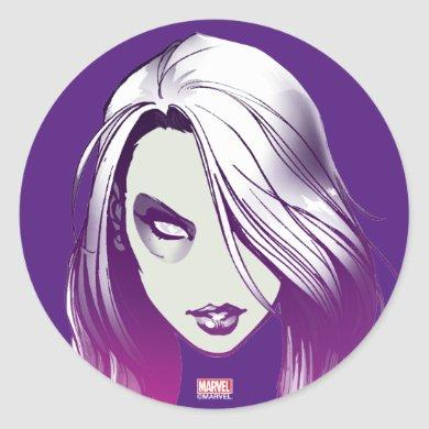 Guardians of the Galaxy | Gamora Watercolor Classic Round Sticker