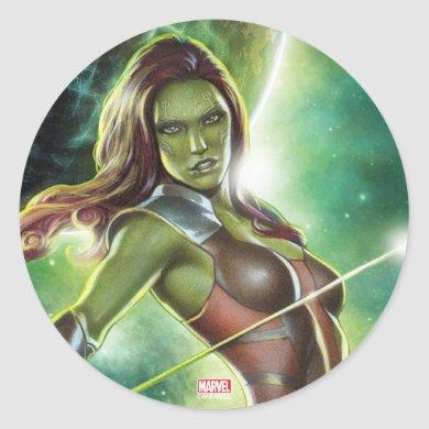 Guardians of the Galaxy   Gamora With Sword Classic Round Sticker