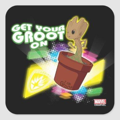 Guardians of the Galaxy | Get Your Groot On Square Sticker