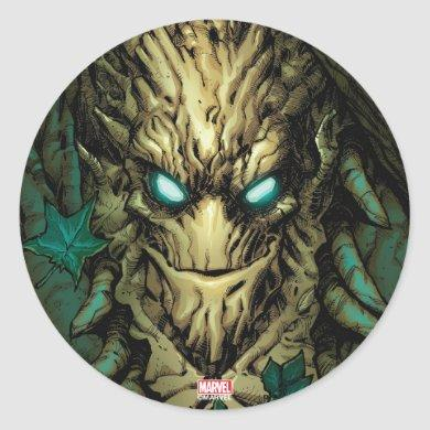 Guardians of the Galaxy | Groot Through Branches Classic Round Sticker