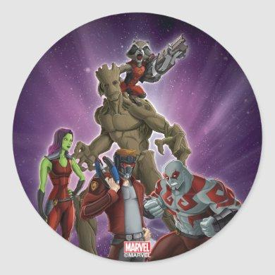 Guardians of the Galaxy | Group In Space Classic Round Sticker