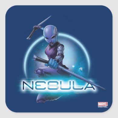 Guardians of the Galaxy | Nebula Character Badge Square Sticker