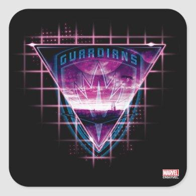 Guardians of the Galaxy | Neon Superimposed Logo Square Sticker
