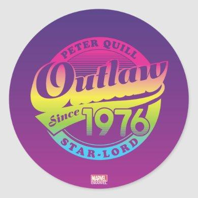 Guardians of the Galaxy | Outlaw Since 1976 Classic Round Sticker