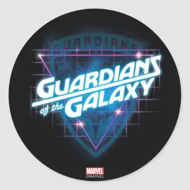Guardians of the Galaxy | Retro Logo Classic Round Sticker