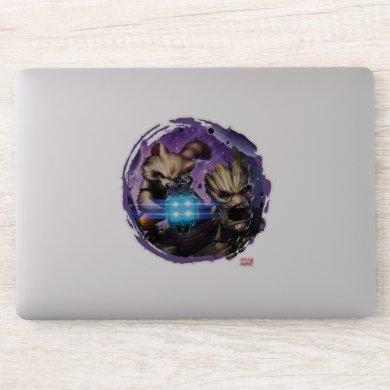Guardians of the Galaxy | Rocket & Groot Attack Sticker