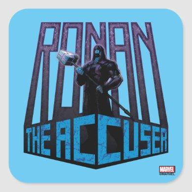 Guardians of the Galaxy | Ronan The Accuser Square Sticker