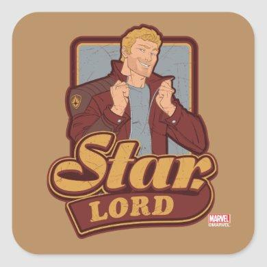 Guardians of the Galaxy | Star-Lord Cartoon Icon Square Sticker
